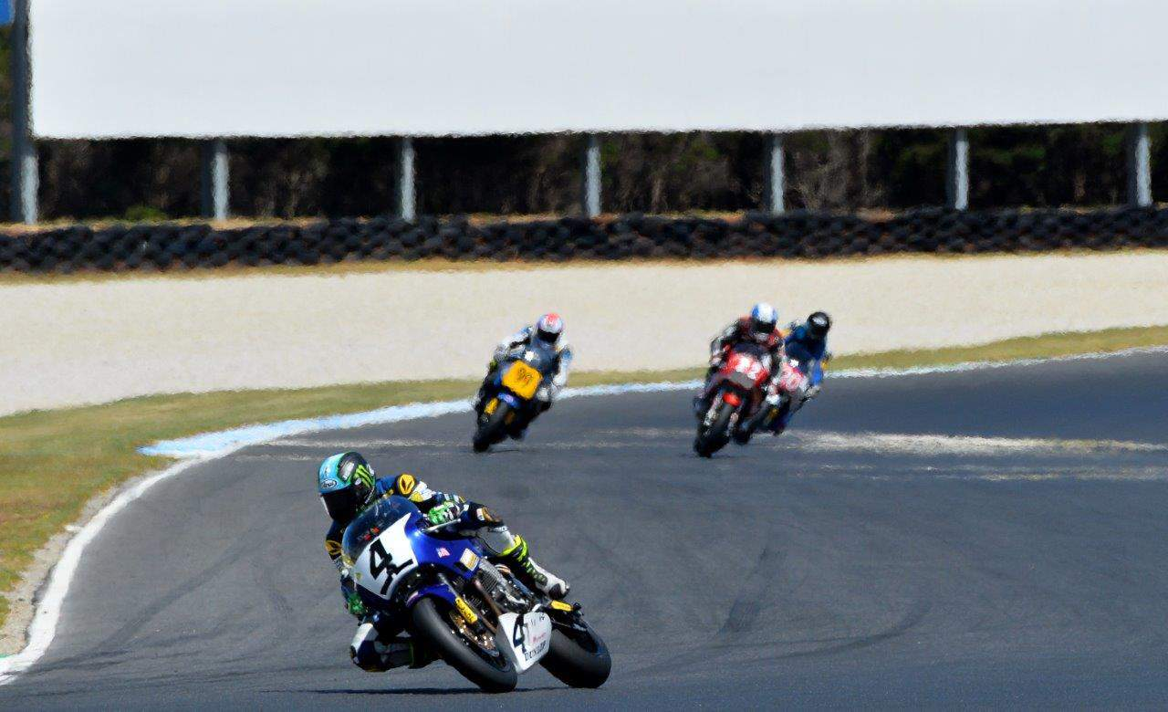 Race four winner of the 2019 Phillip Island International Challenge, Josh Hayes for the USA team. (Photo credit Russell Colvin)