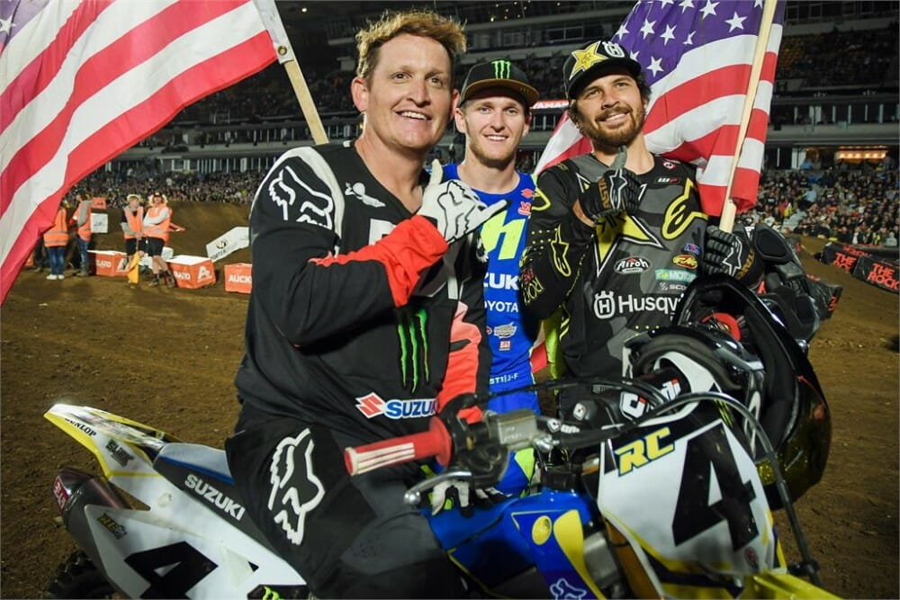Suzuki Legend and multi-time AMA Supercross and Motocross Champion Ricky Carmichael visited New Zealand to take part in some Supercross races at the weekend and will raise money for charity.