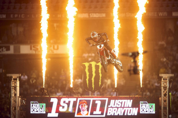 2019 AUS-X Open Supercross Results Justin Brayton Finish Line - Brett-Hemmings