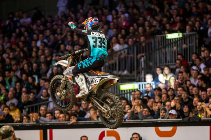 2019 Geneva Supercross Results SX2 night two Joey Crown Action
