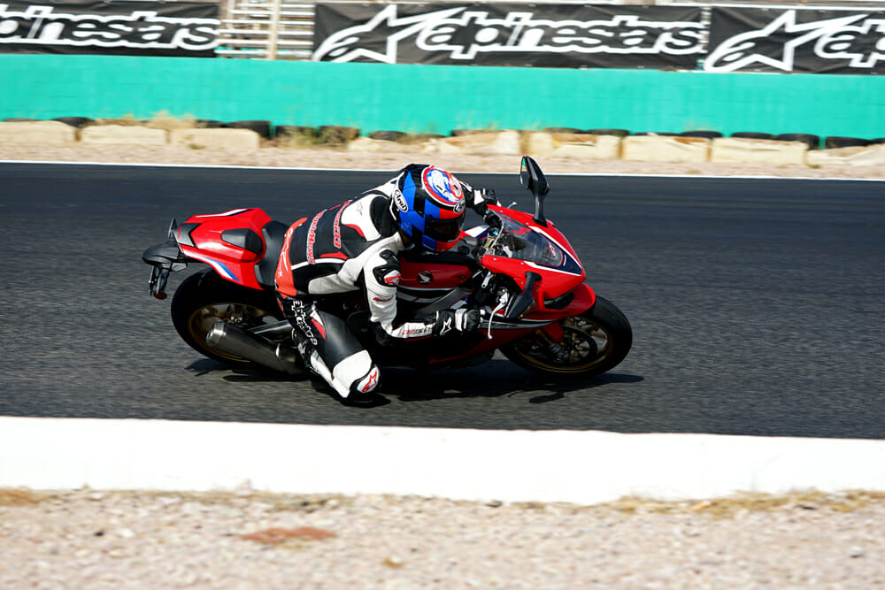 The abysmal surface at Willow Springs highlighted the limits of the first generation Ӧhlins electronic suspension.