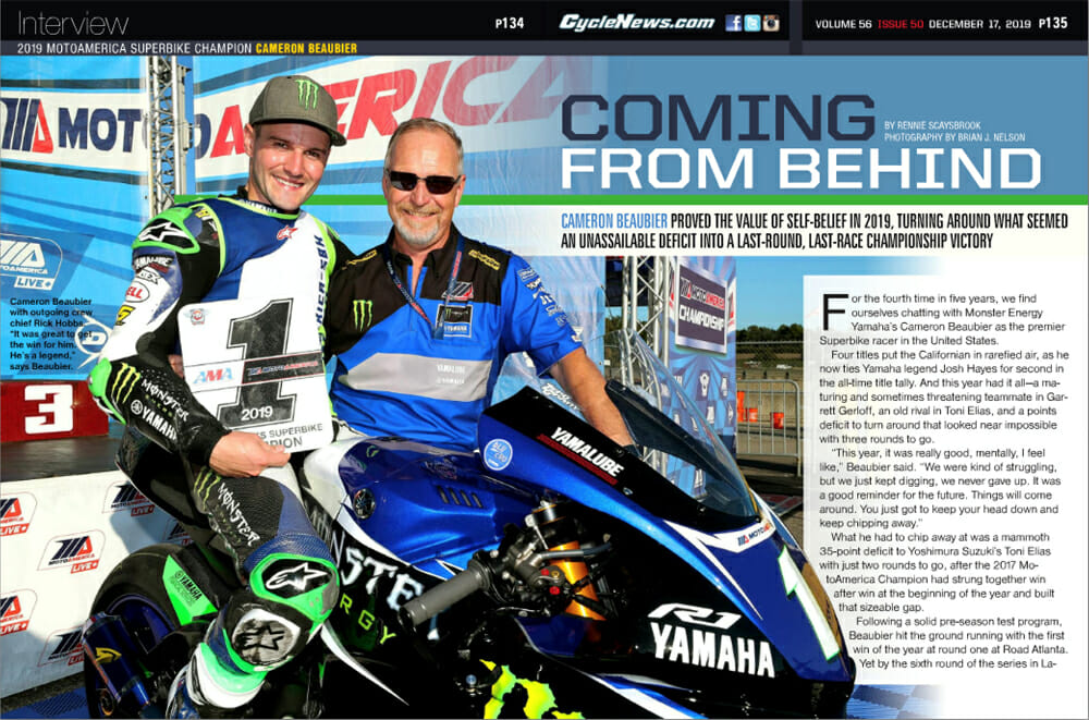 2019 MotoAmerica Superbike Champion Cameron Beaubier Cycle News Interview