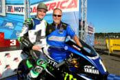 2019 MotoAmerica Superbike Champion Cameron Beaubier with outgoing crew chief Rick Hobbs.