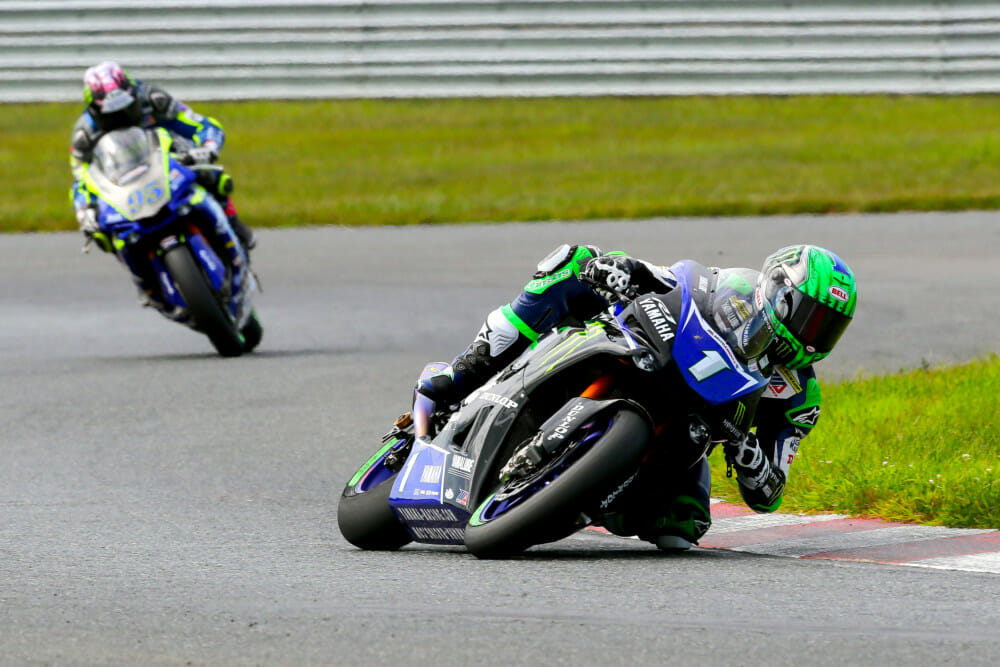 By MotoAmerica New Jersey, Cameron Beaubier could smell blood and took a commanding race two win.