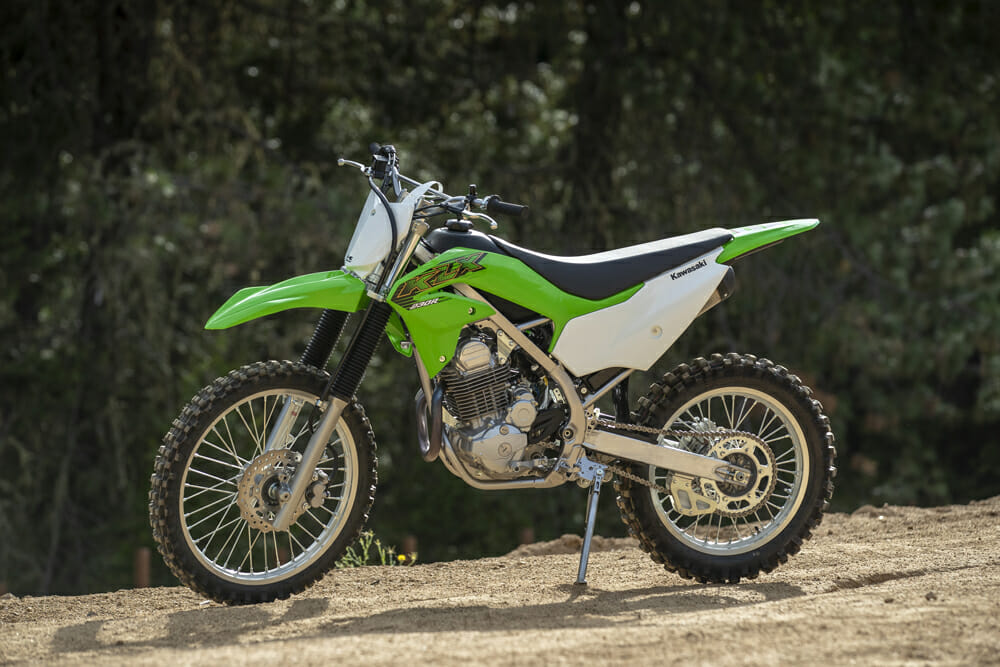 The KLX230R is a KLX230 without lights and without the weight.