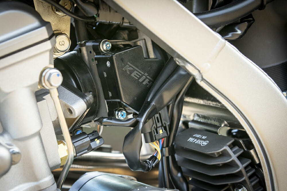 The 2020 Kawasaki KLX300R is fitted with a 292cc, liquid-cooled, DOHC, four-stroke engine with a six-speed transmission, just like in the old days.