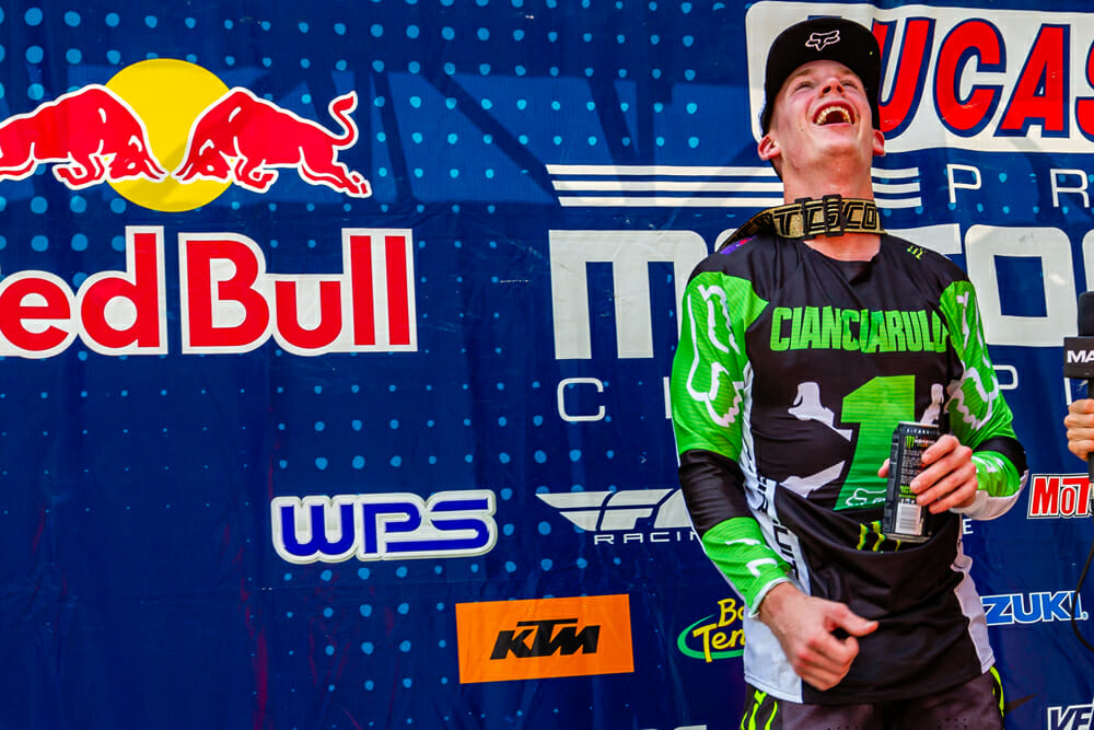 The moment Adam Cianciarulo realized that his dream of becoming 250MX AMA Pro Motocross Champion had just come true.