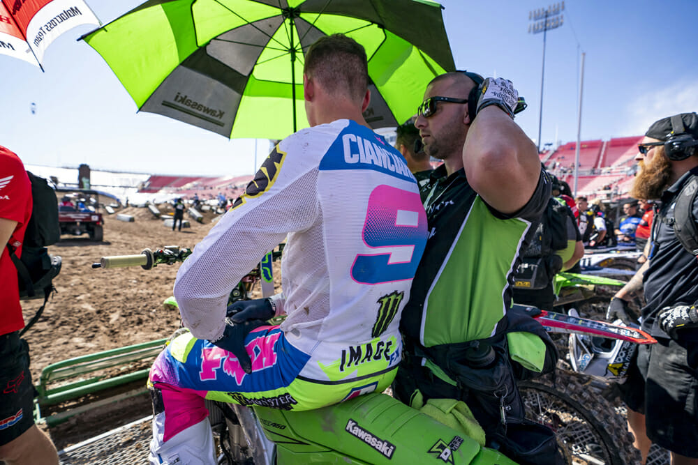 Adam Cianciarulo made his 450cc debut a winning one at the Monster Energy Cup.
