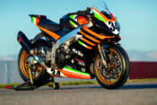 Alan Cathcart takes a spin on Rennie's Pikes Peak-winning Aprilia Tuono 1100 RSV Factory racebike.