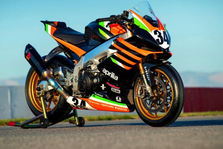 Alan Cathcart takes a spin on Rennie's Pikes Peak-winning Aprilia Tuono 1100 RSV Factory racebike.
