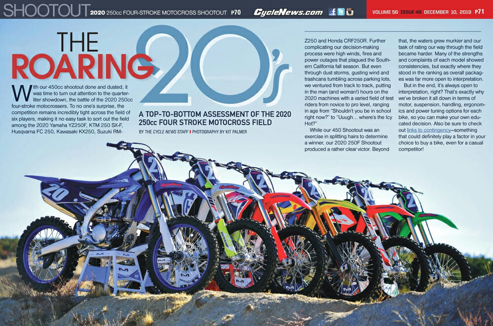 Cycle News 2020 250cc Four-Stroke Motocross Shootout