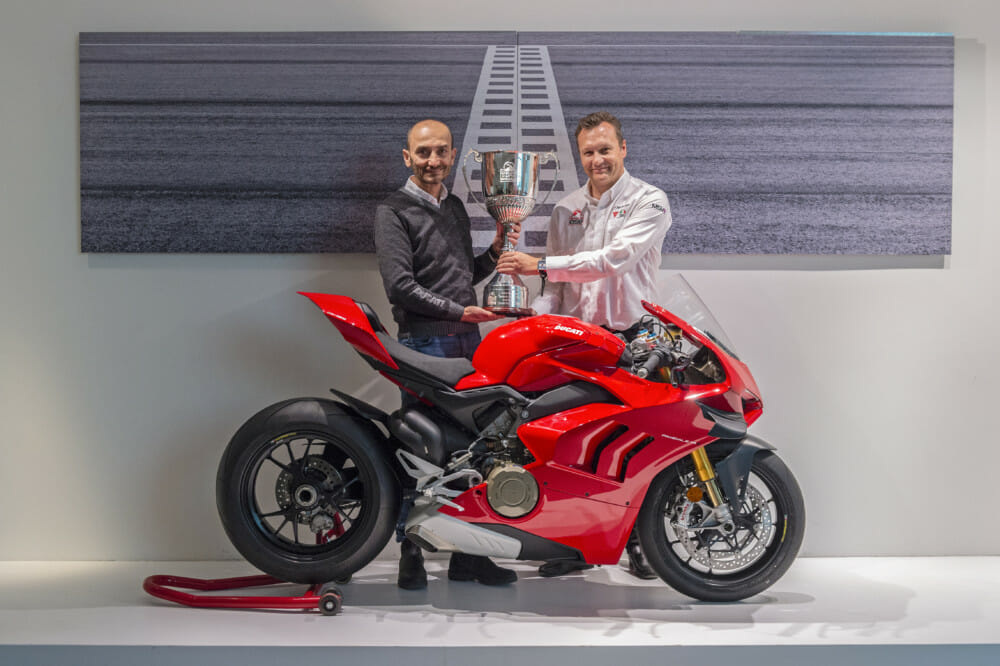 Ducati Presented With 2019 British Superbike Championship Winning Manufacturer Trophy