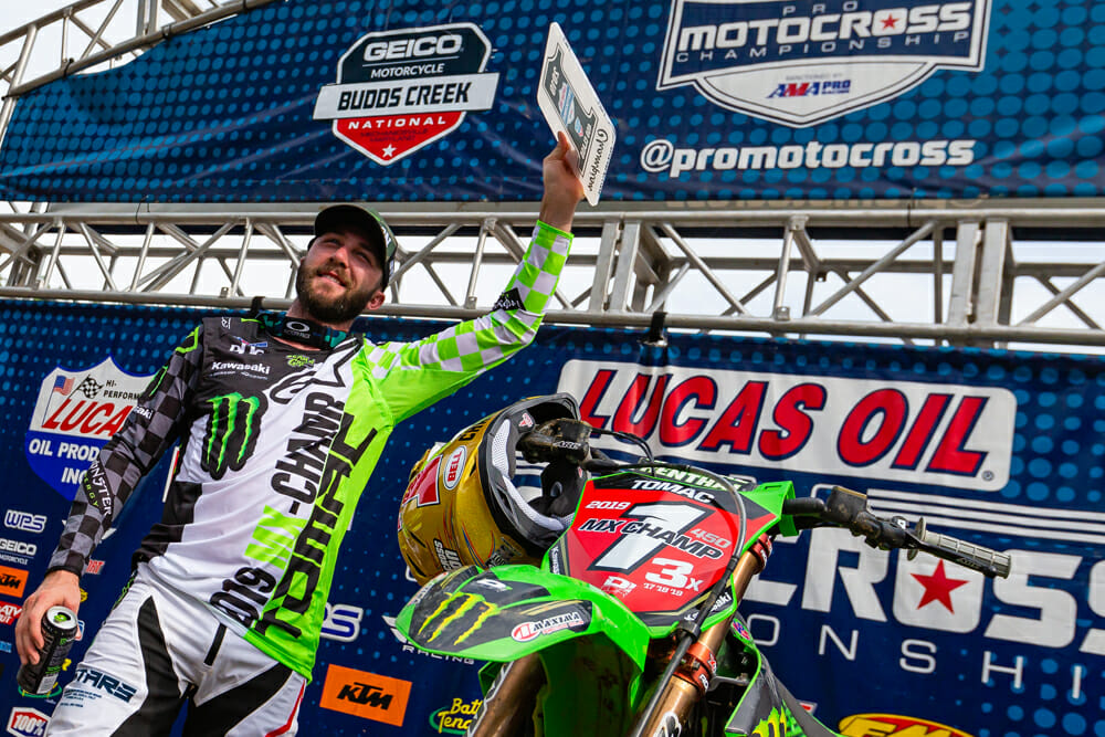 2019 450MX AMA Pro Motocross Champion Eli Tomac at Budds Creek, round 11.