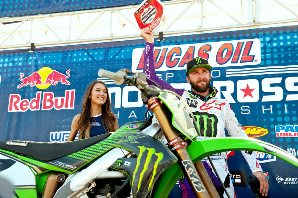 2019 450MX AMA Pro Motocross Champion Eli Tomac at Fox Raceway, round two.