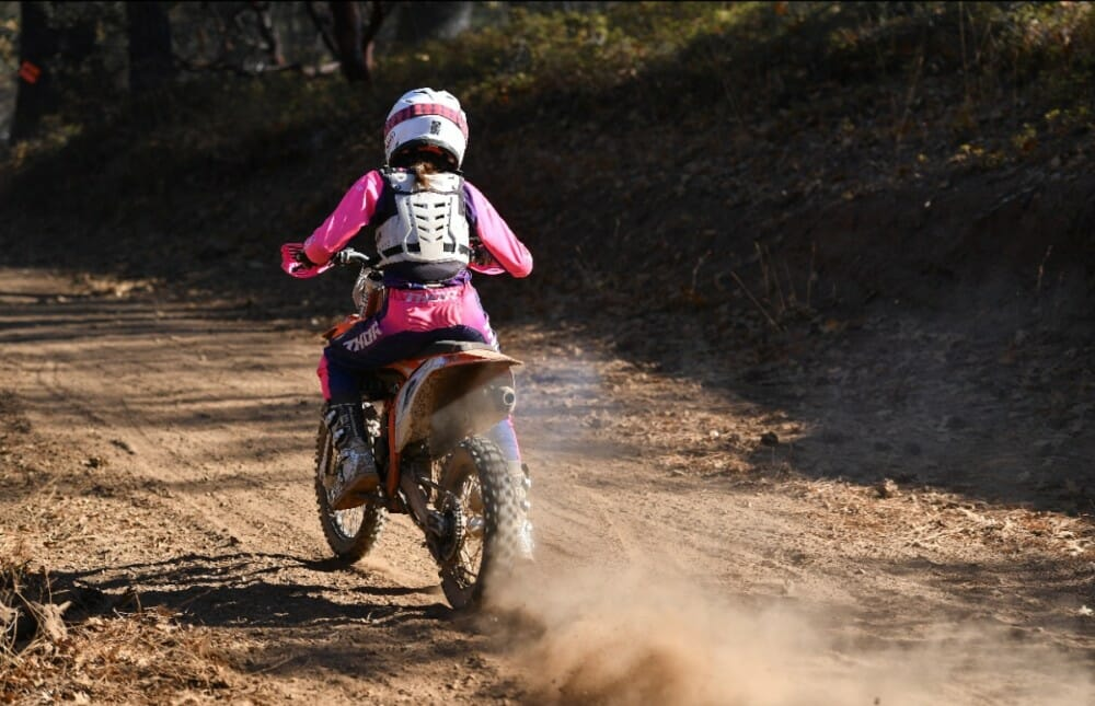 Elizabeth Edwards has been landing on the podium all year long and would finish off her year with the 2019 AMA West Hare Scramble Jr. Mini Championship title.