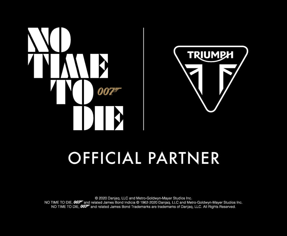 James Bond and Triumph Motorcycles Partner in No Time To Die