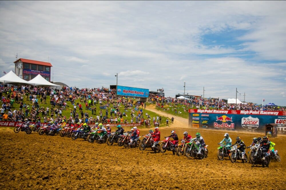 Tickets are now on sale to the 2020 Lucas Oil Pro Motocross Championship. Photo: Jeff Kardas