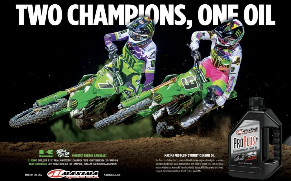 Maxima Racing Oils - eli tomac and adam cianciarulo