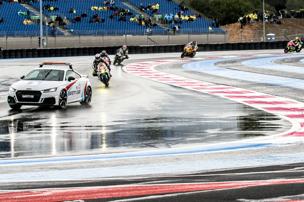 A Racer's Diary: 24 Hours in Bol d'Or Blender by Melissa Paris | Torrential downpours, 15-foot flames, this story reads like some sort of Biblical end-of-days prophecy.