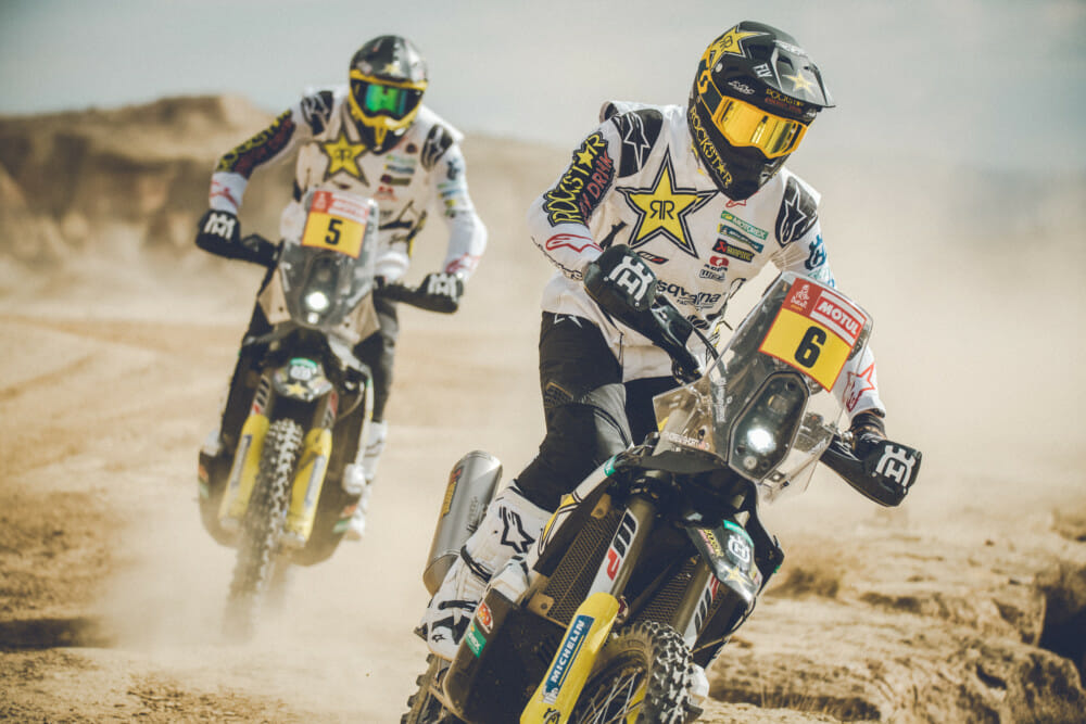 Pablo Quintanilla and Andrew Short look ahead to the start of the iconic Dakar Rally