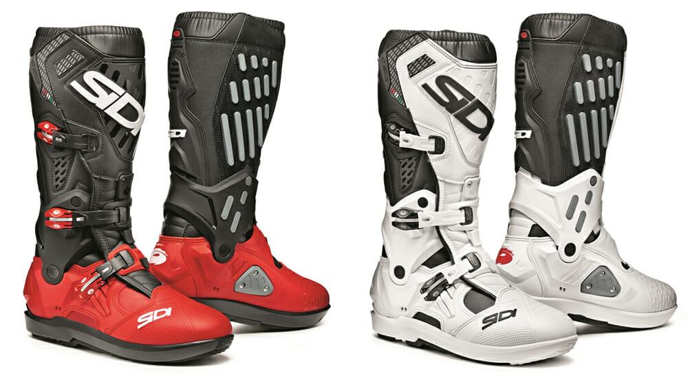 Sidi Atojo SR boots in red and white