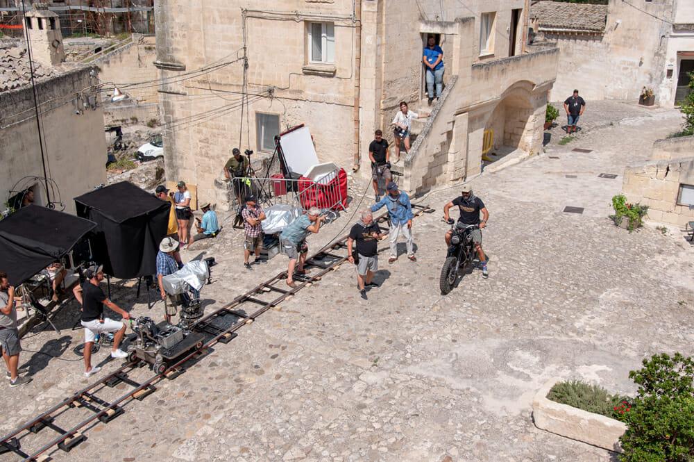 "Stunt coordinator Lee Morrison on the set of the James Bond ""No Time To Die"" film"