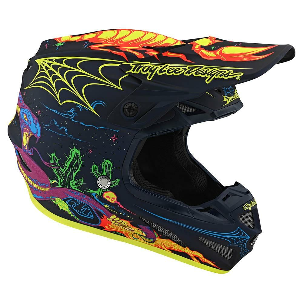 Troy Lee Designs has fresh graphics out for its SE4 MX helmet.