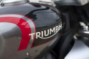The fuel tank capacity on the 2020 Triumph Rocket 3 is reduced from 6.3 gallons to 4.7 gallons.