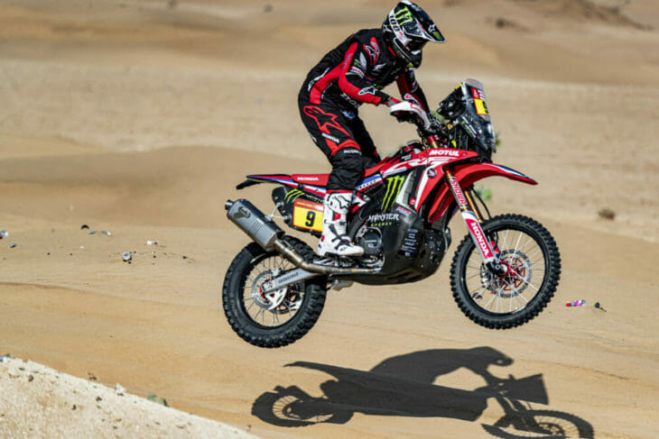 2020 Dakar Rally Motorcycle Results Brabec stage Three