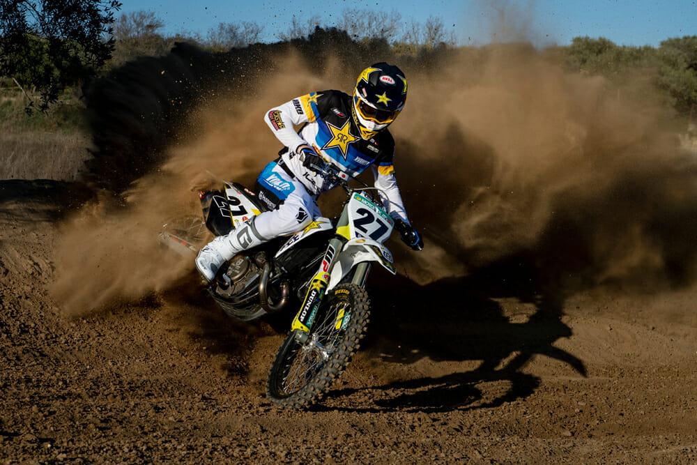 Arminas Jasikonis of the 2020 Rockstar Energy Husqvarna Factory Racing MXGP