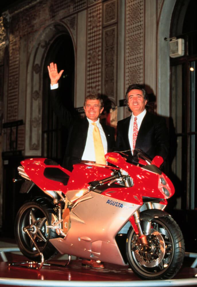 Claudio Castiglioni and Giacomo Agostini