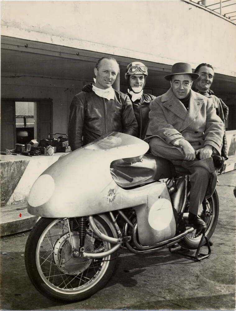 Count Domenico Agusta with John Surtees