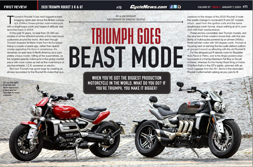 2020 Triumph Rocket 3 R & GT Review