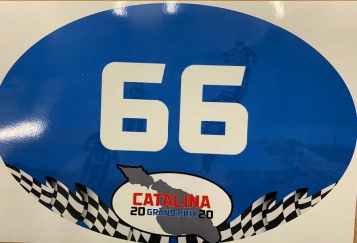 2020 Catalina Island GP number plate