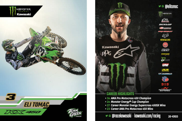 Monster Energy Kawasaki Team Collector Cards