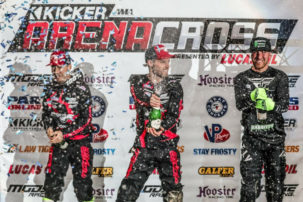 Defending champion Jace Owen wins Kicker Arenacross round one.