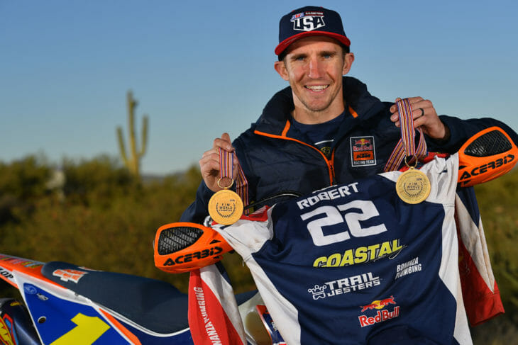 Off-Road Champion Taylor Robert Interview - Off-Road Champion Taylor Robert Interview | Taylor Robert is considered one of—if not the best—off-road racers in the country. But his most prized possessions are his two(!) ISDE World Trophy Team gold medals.