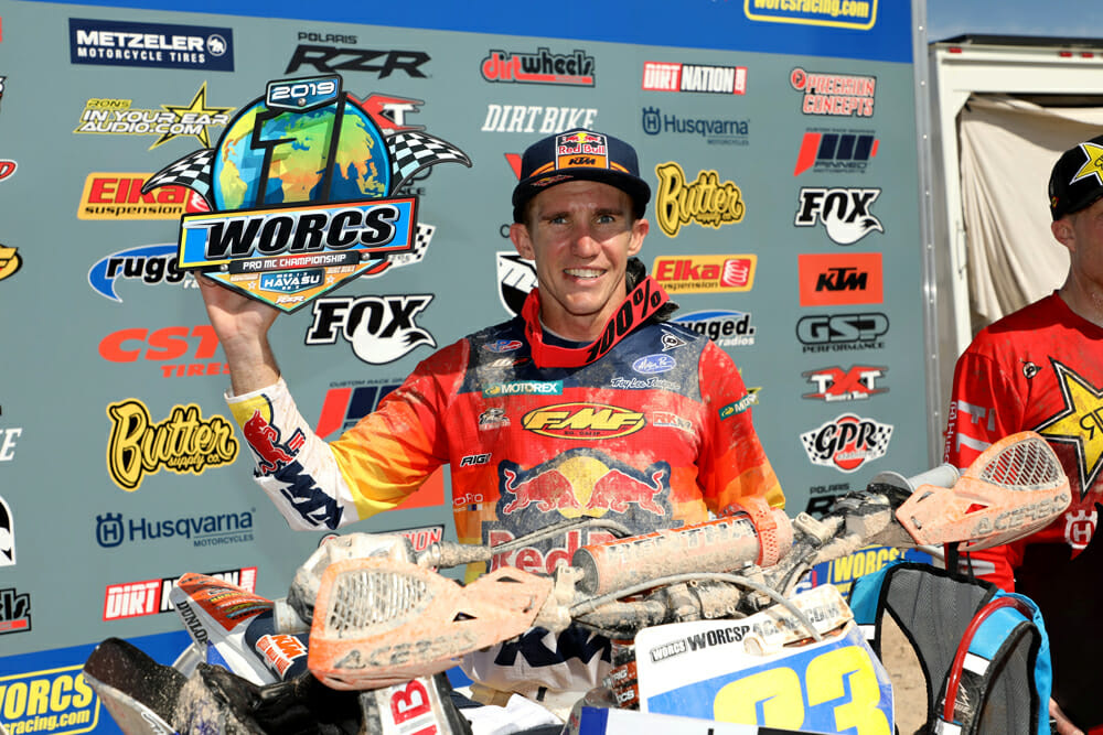 Injuries have slowed Taylor Robert's championship progress but he avoided that in 2019 and came away with the WORCS title.