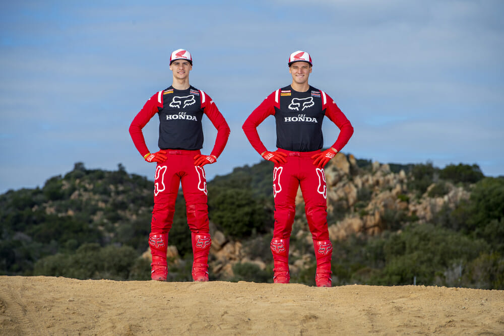 Team HRC Tim Gajser and Mitch Evans Ready for 2020 MXGP
