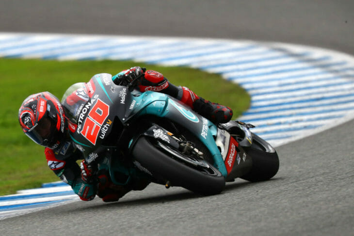 Fabio Quartararo sings for Yamaha corner