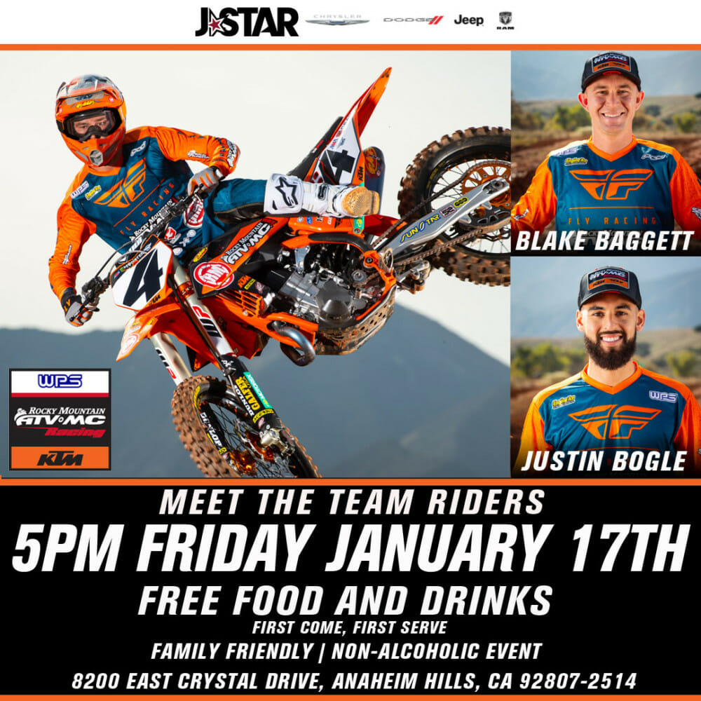 Meet and Greet With Team Rocky Mountain ATV/MC-KTM-WPS Riders
