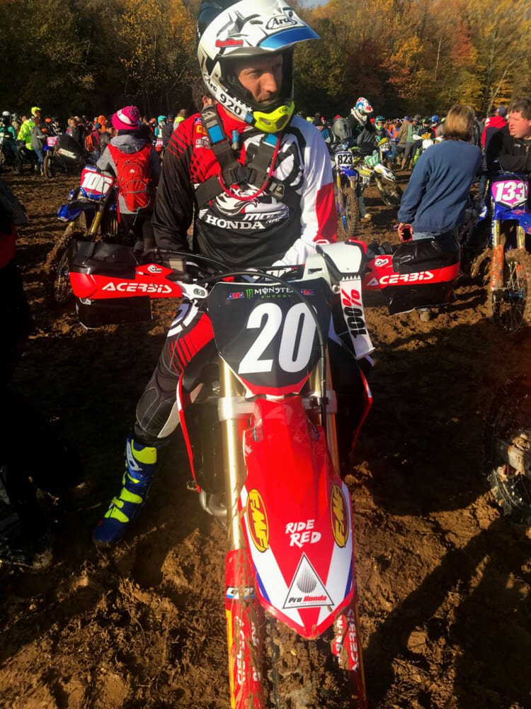 Jesse Ziegler won't ever forget his experience racing a GNCC while he was testing the Honda for Cycle News' 2020 Honda CRF250RX Review.
