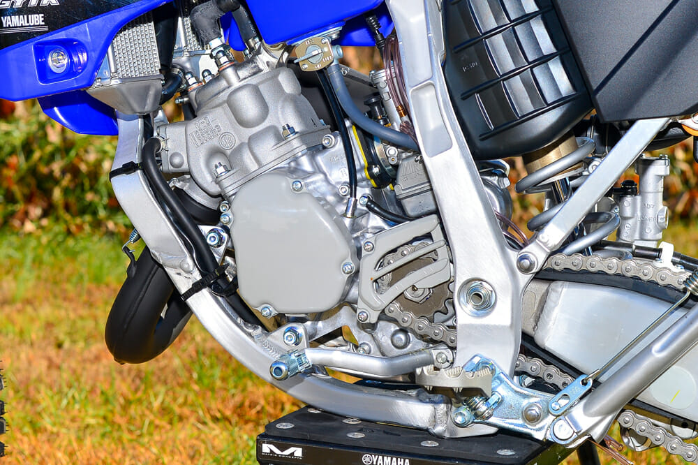 The 2020 Yamaha YZ125X engine.