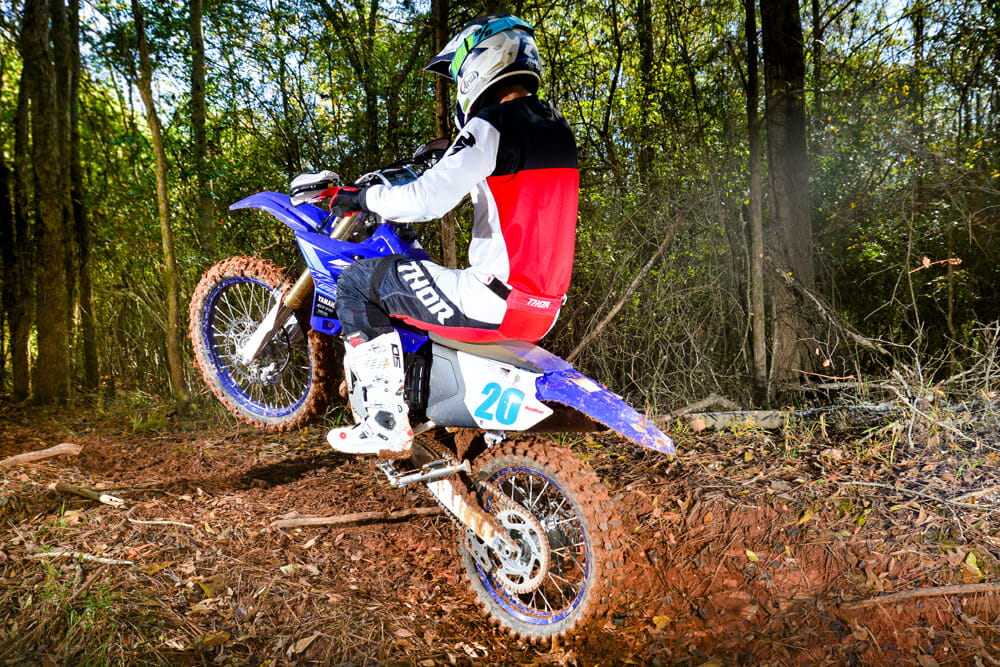 The 2020 Yamaha YZ125X is llightweight.