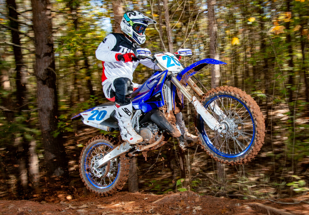 Yamaha expanded its off-road two-stroke line with the YZ125X.