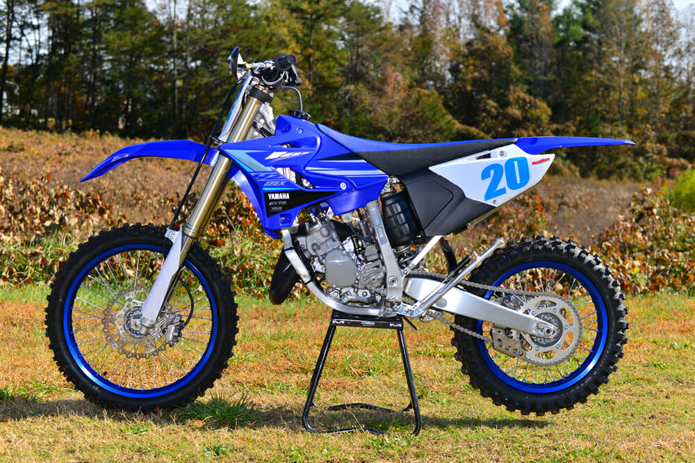 The YZ125X could easily pass as its YZ125 cousin.