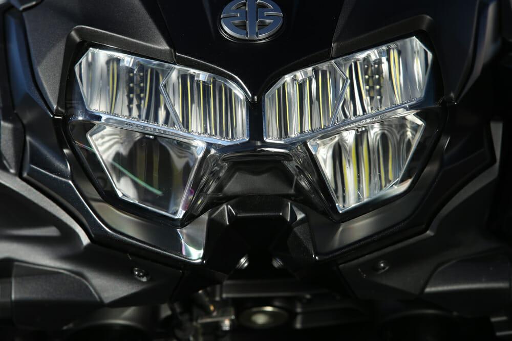 Front view of the 2020 Kawasaki Z H2.