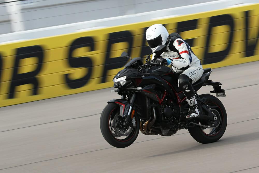 2020 Kawasaki Z H2 wheelie.