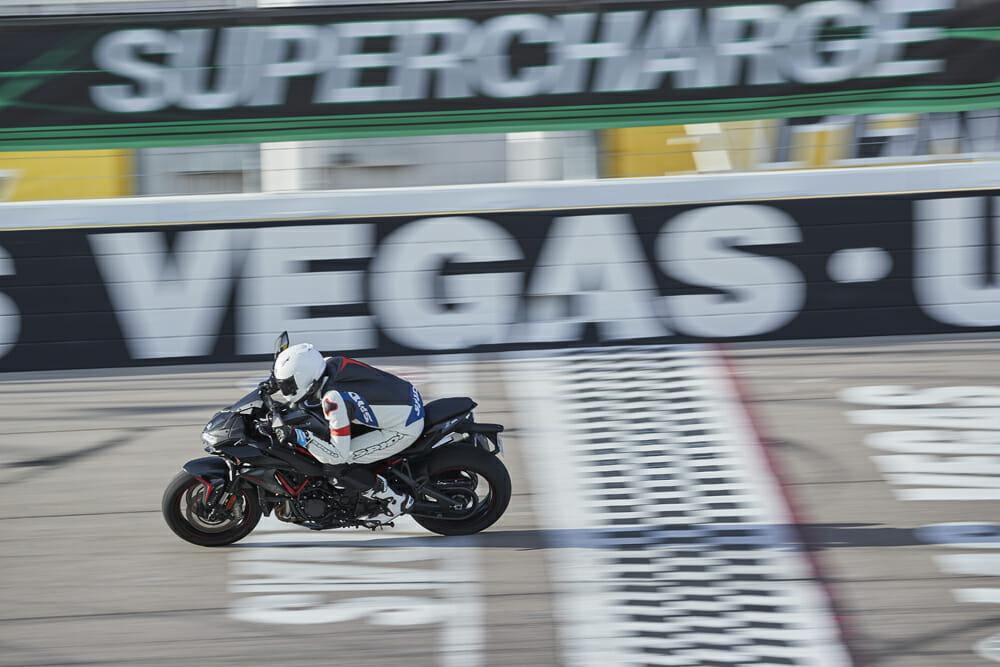 The 2020 Kawasaki Z H2 at the Las Vegas Motor Speedway.
