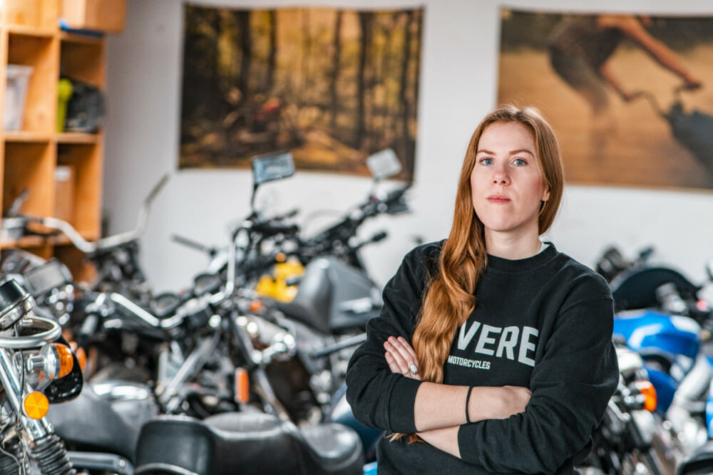 DIY shop owner Andrea Lothrop will participate in Royal Enfield BUILD TRAIN RACE Program.